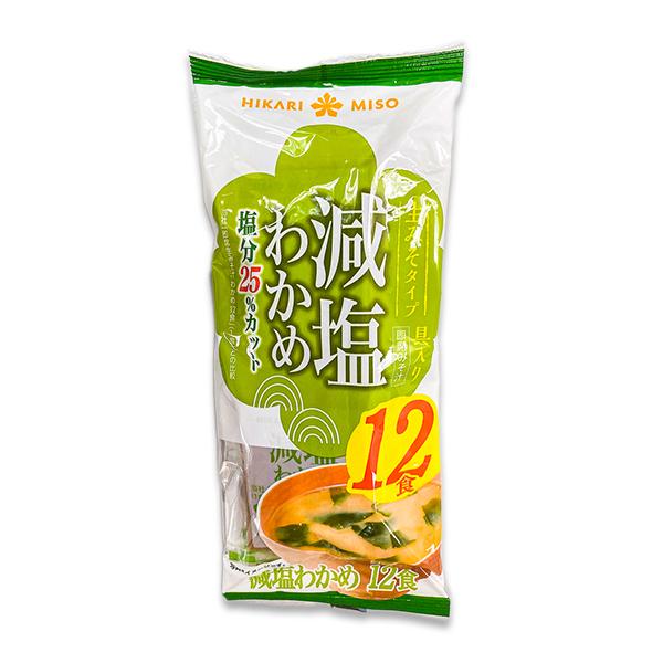 Instant Miso Soup - Wakame Reduced Salt 25% (12 servings)
